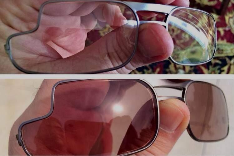 La prima foto delle lenti da vista dedicate ai Google Glass!