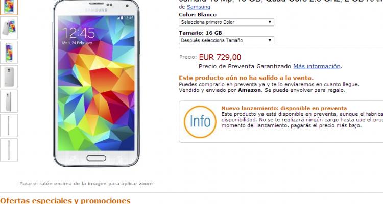 Galaxy S5 amazon spain
