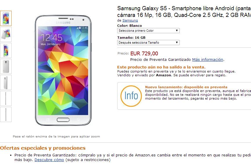 Samsung Galaxy S5: prezzo salato e superiore a 700€!