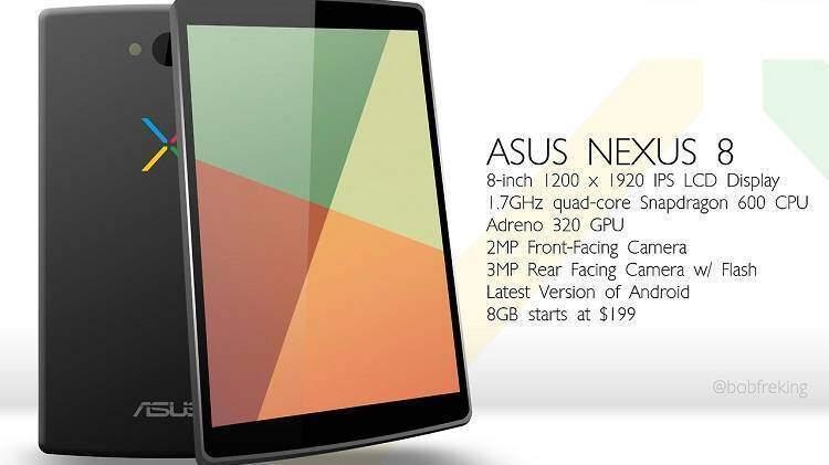 Nexus 8, debutto sul mercato atteso per fine Aprile