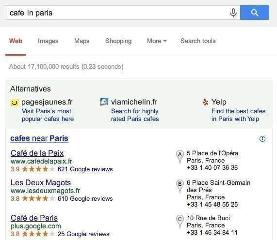 Ricerca localizzata di Google dopo l'accordo con l'antitrust UE