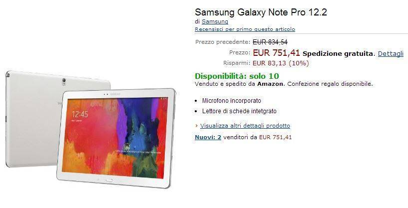 samsung galaxy note pro 12.2 amazon