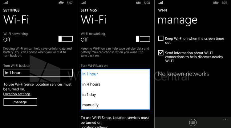wifi windows phone 8.1