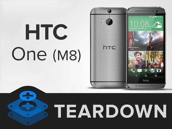 HTC One M8 disassemblato da iFixit in video