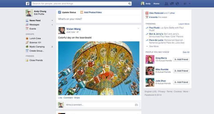 Facebook, il News Feed cambia grafica: ecco cosa cambia