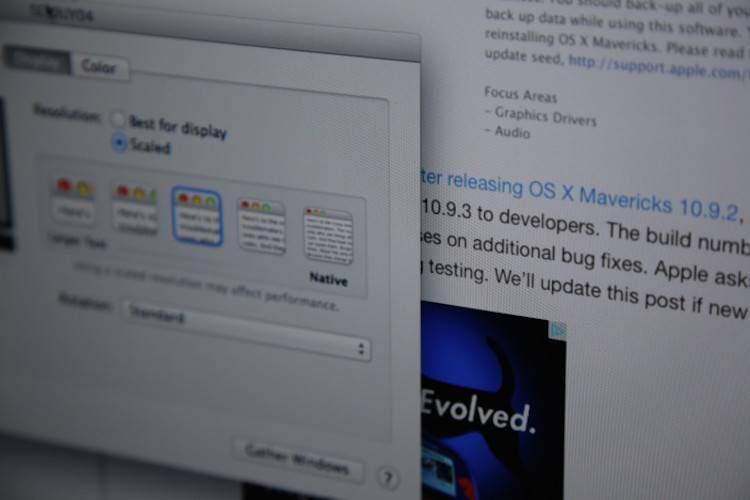 Apple abilita la visualizzazione Retina nativa nel mirroring in OSX 10.9.3