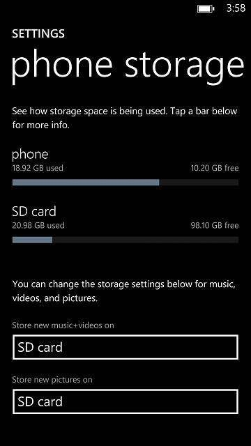 microsd 128gb windows phone 8