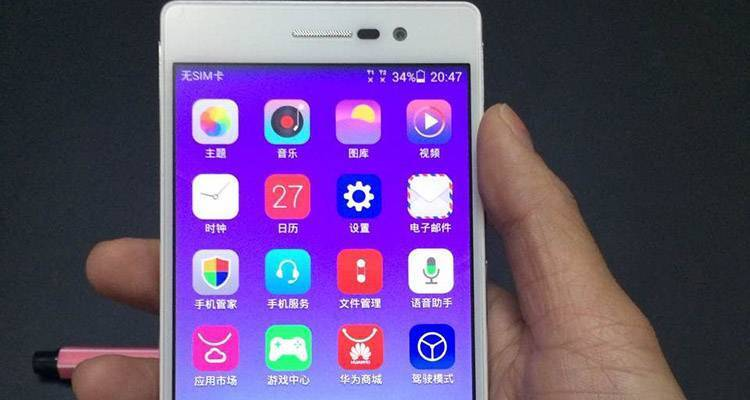 Huawei Ascend P7 display