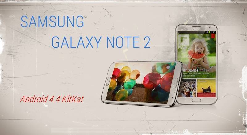 Galaxy Note 2 No Brand riceve finalmente Android KitKat