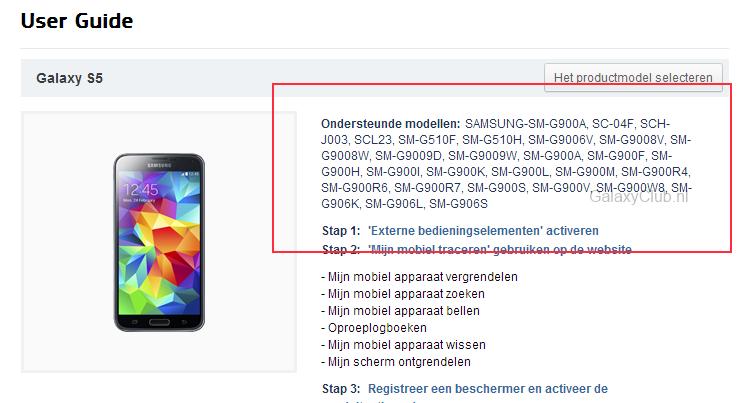 Galaxy S5 Prime compare nei documenti Samsung