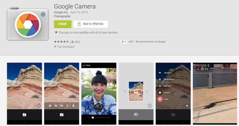 Google Fotocamera, la nuova app fotocamera di Google