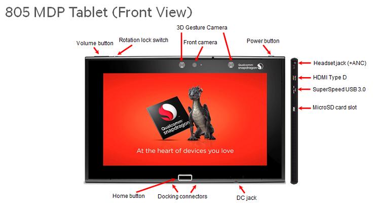 MDP/T con Snapdragon 805: il tablet per sviluppatori a 799$