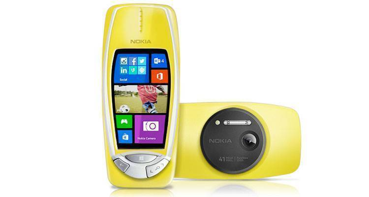 nokia 3310 pureview yellow