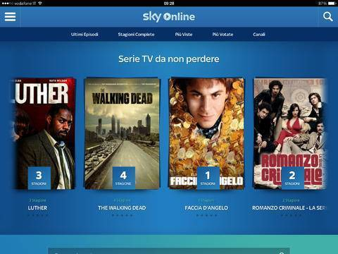 sky online serie tv