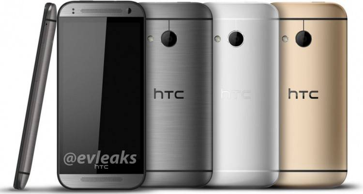 htc one m8 mini silver gold white