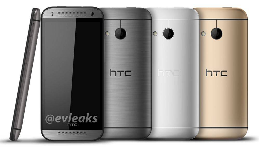 htc one m8 mini silver gold white