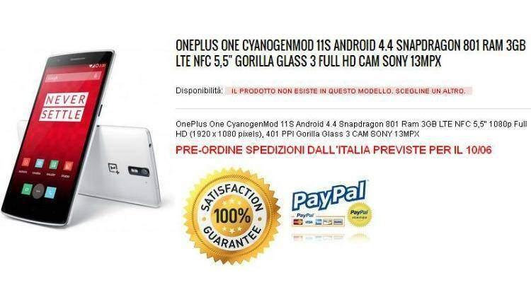 OnePlus One arriva in Italia: da Giugno su Topresellerstore a 309€