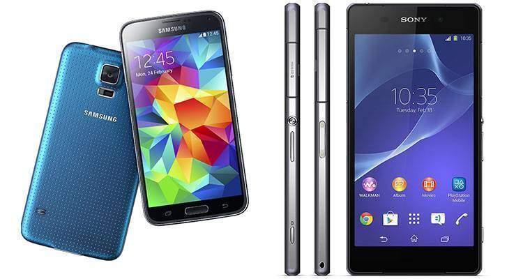 Offerte Sony Xperia Z2 e Galaxy S5