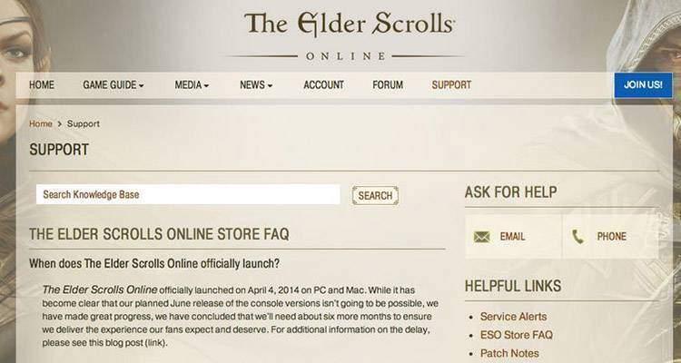 the elder scrolls online rinviato