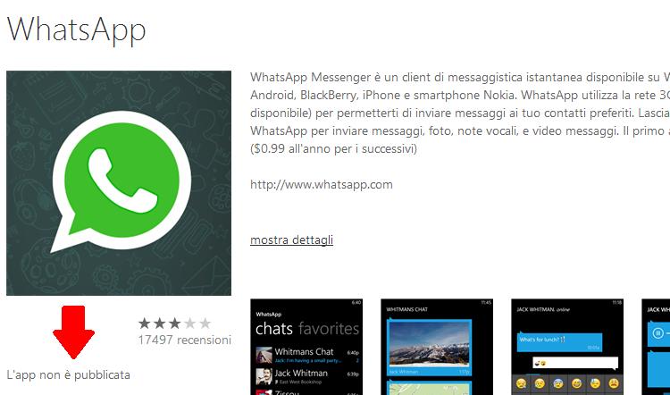 WhatsApp fa acqua: Windows Phone la rimuove dal suo Store
