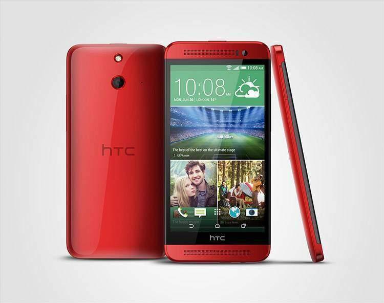 HTC One E8 rosso
