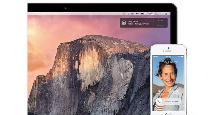 OS X Yosemite iOS