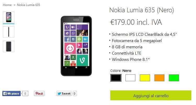 Nokia Lumia 630 e 635: gift card da 25€ in omaggio!