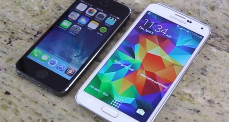 samsung galaxy s5 iphone