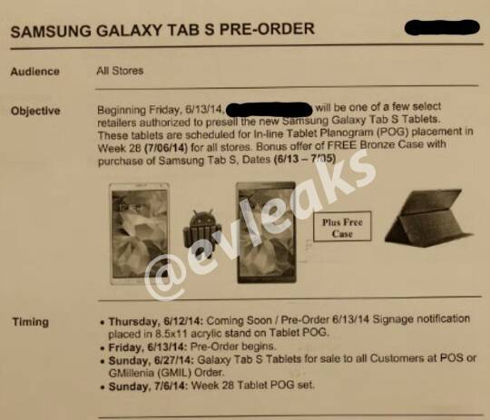 samsung galaxy tab s data