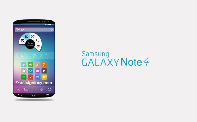 Samsung Galaxy Note 4: apk conferma display da 2560×1600 pixel