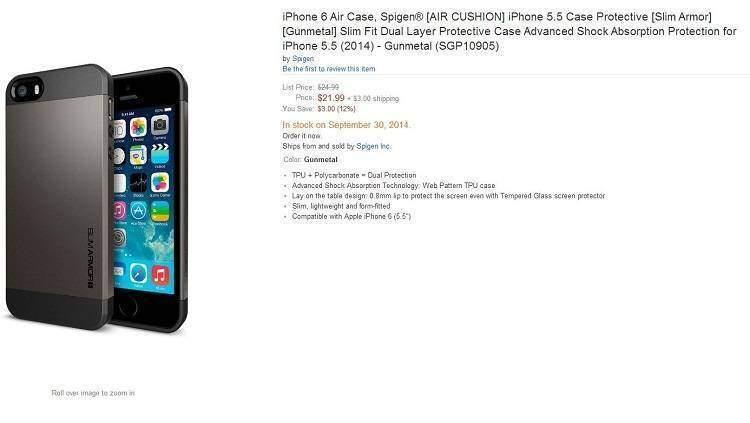iPhone 6 Air (da 5.5″): ufficializzato anche dal produttore di cover Spigen