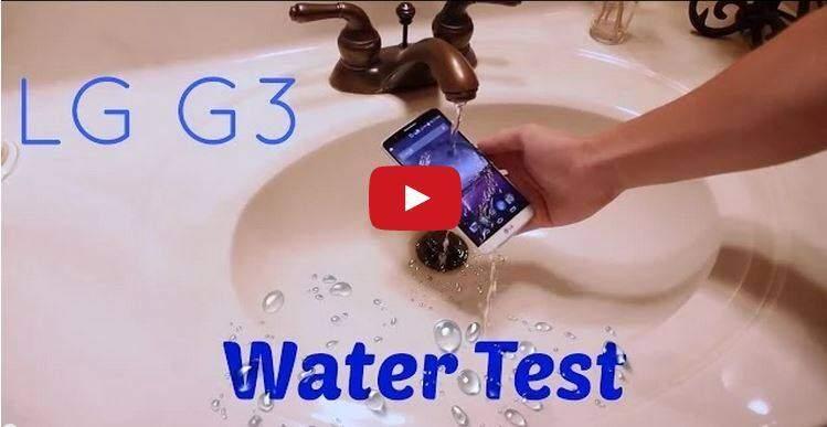 Locandina mostra impermeabilità LG G3