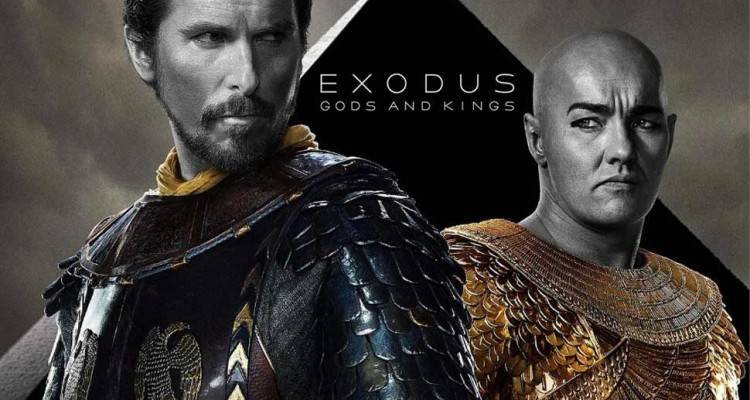 Locandina Exodus Gods and Kings con Christian Bale