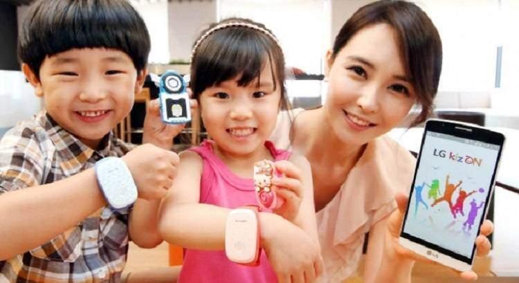 LG presenta KizON, il primo indossabile per bambini
