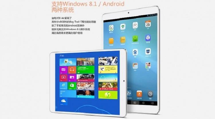 Teclast X98 Air, nuovo tablet Bay Trail con Windows o Android