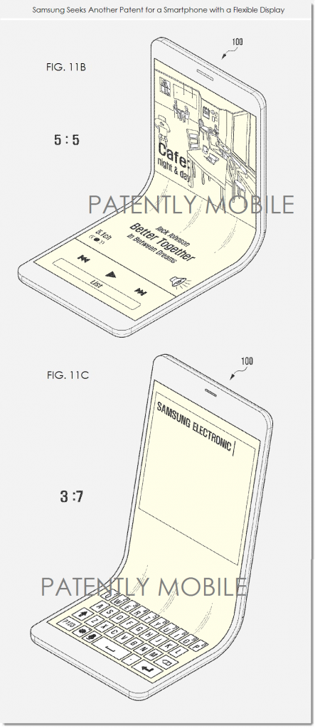 brevetto samsung riguardante i display flessibili