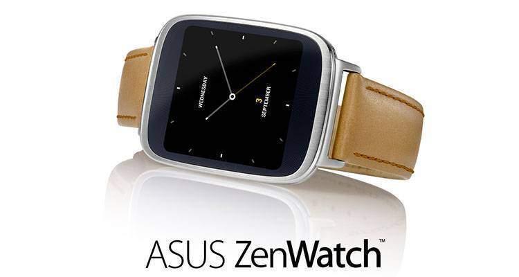 Immagine promozionale di ASUS ZenWatch, primo smartwatch Android della compagnia.
