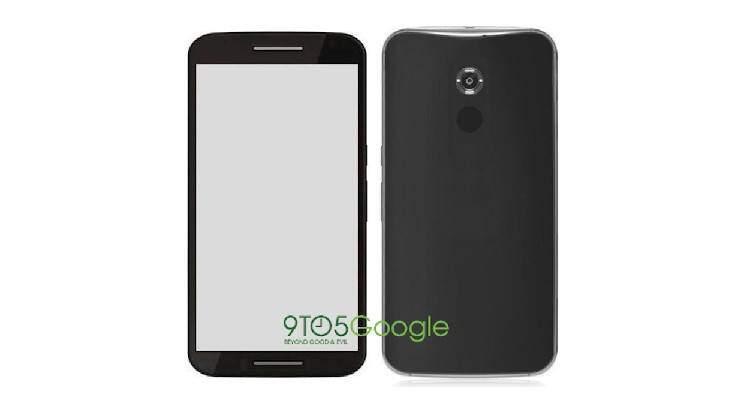Render di Motorola Shamu, nuovo smartphone Android del produttore statunitense.