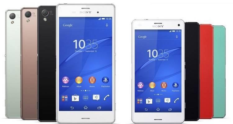 Immagine promozionale che mostra il Sony Xperia Z3 e lo Z3 Compact