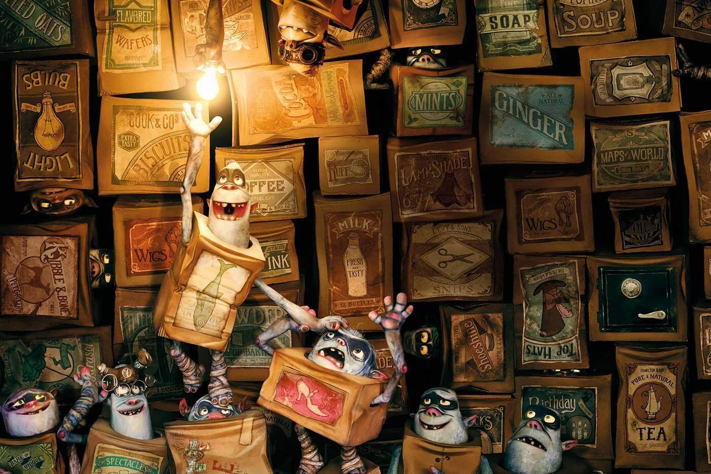 BoxTrolls, video making of del linguaggio delle scatole magiche