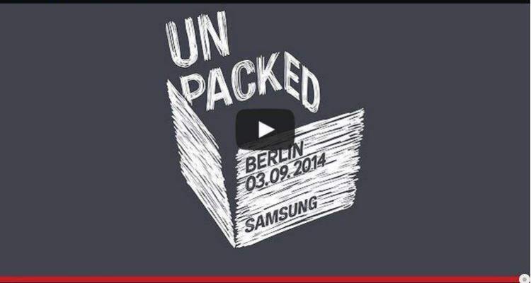 Locandina evento di presentazione del Samsung Galaxy Note 4 e del Galaxy Note Round