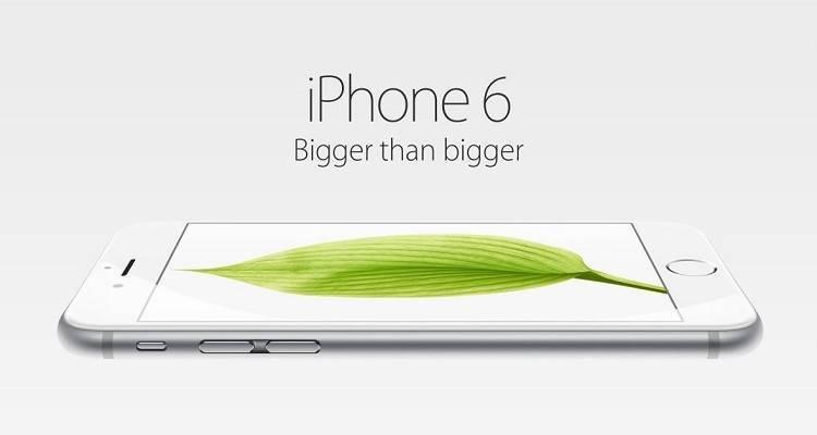 Immagine promozionale dell'iPhone 6