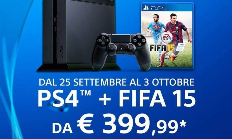 Playstation 4 nel carrello? FIFA 15 è in omaggio!