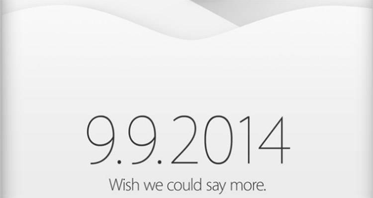 Invito evento presentazione iPhone 6.