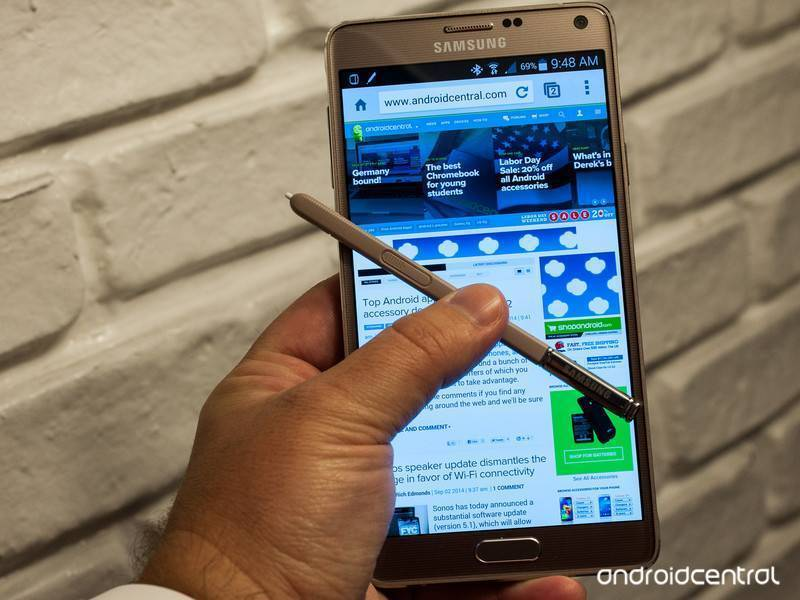 Samsung Galaxy Note 4 e Note 3: Android Lollipop è arrivato