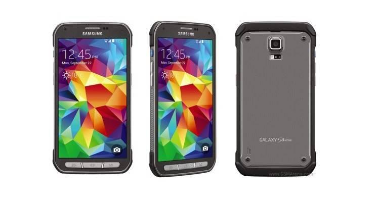 Tre immagini del design previsto per Samsung Galaxy S5 Active