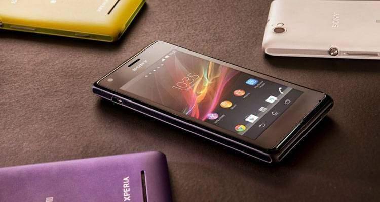 Immagine di Sony Xperia M, smartphone Android.