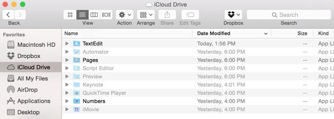 iCloud Drive lato Mac