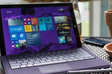 Foto del Surface Pro 3 di colore viola