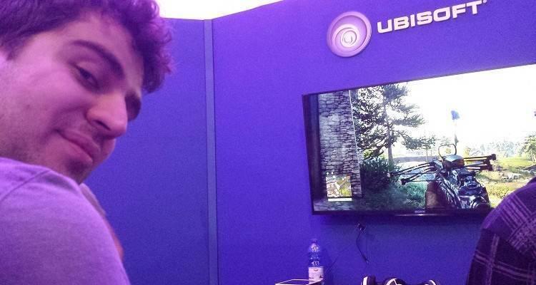 Fotografia scattata durante la prova di Far Cry 4 al Games Week